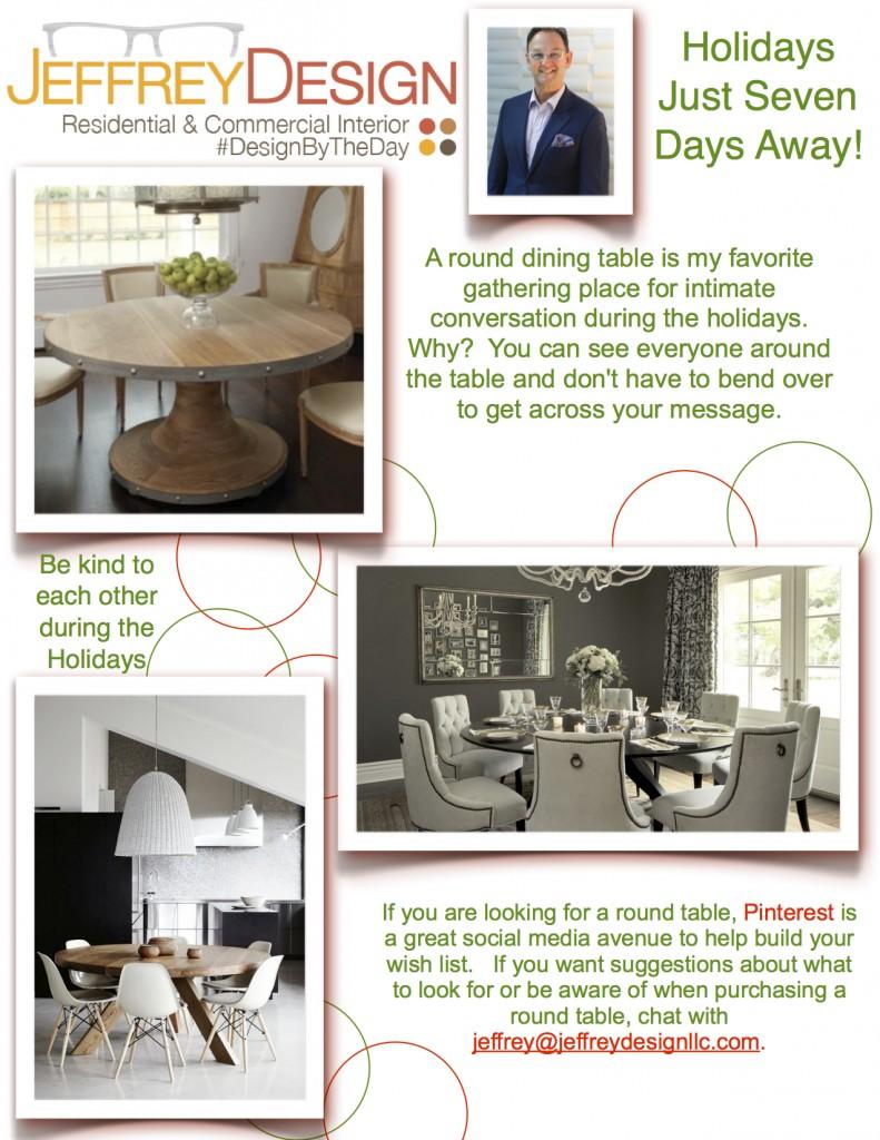 Jeffrey Design blog JPG - Round Dining Tables