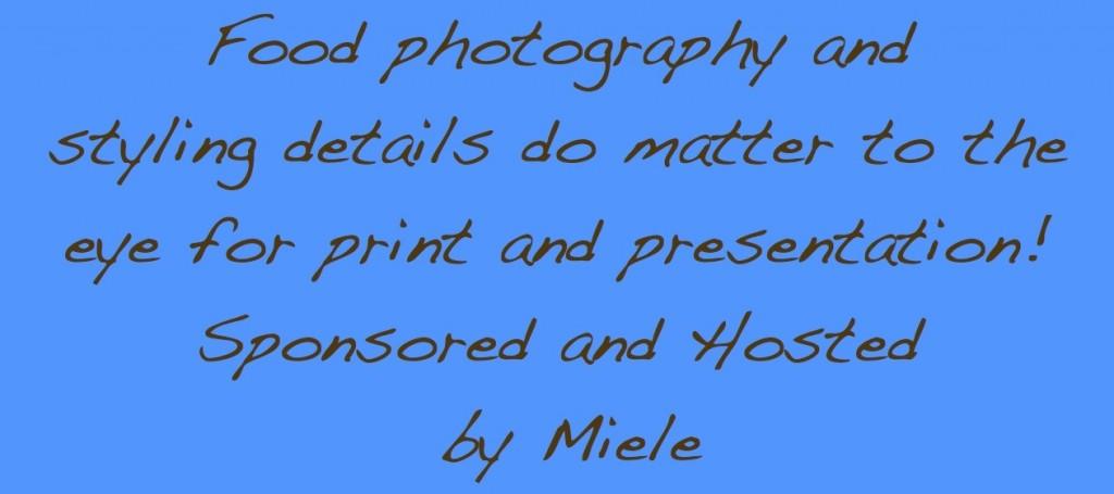 Miele food photography and presentation