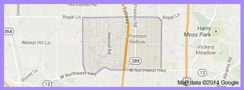 Preston Hollow Neighbord map