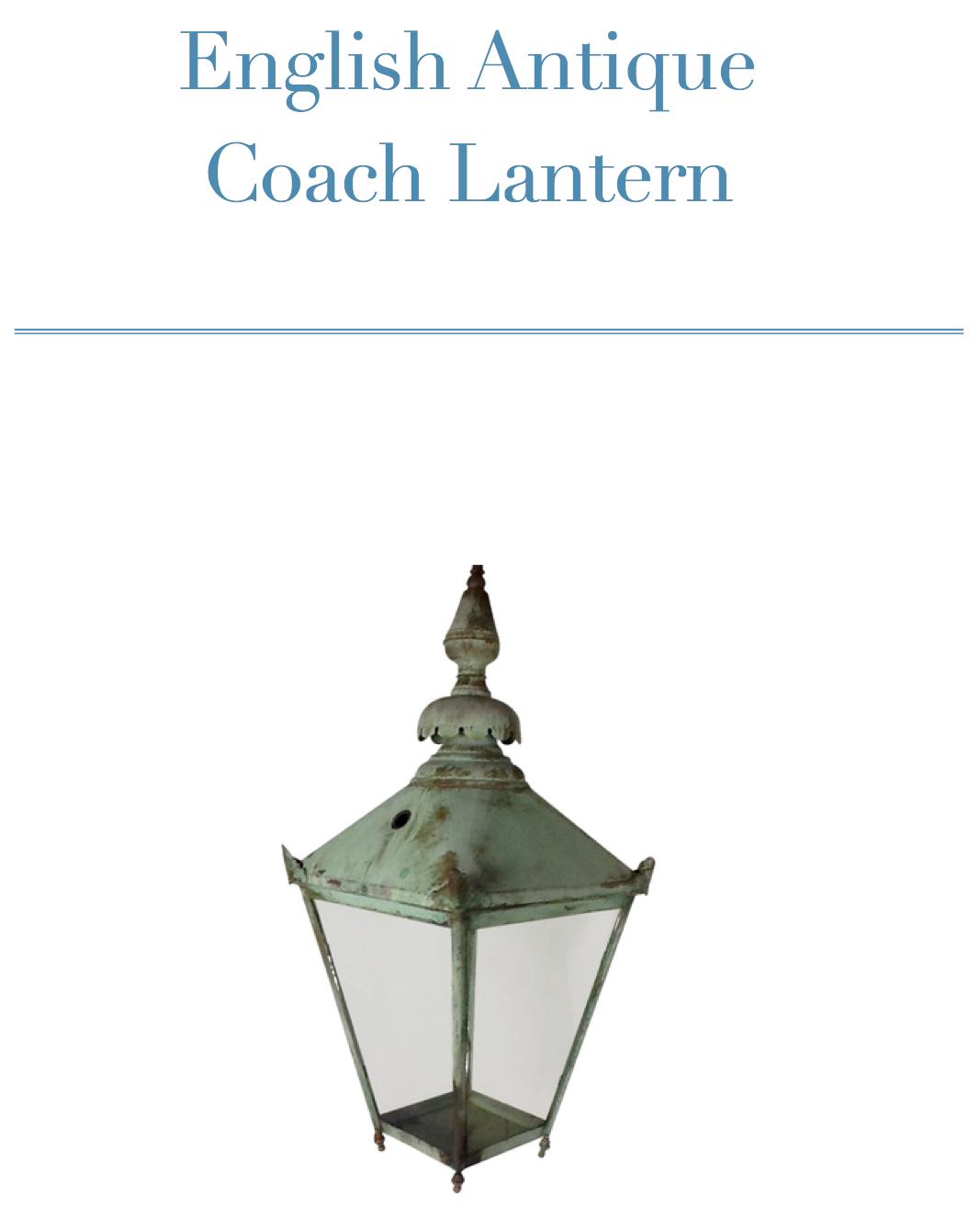 English Antique Coach Lantern