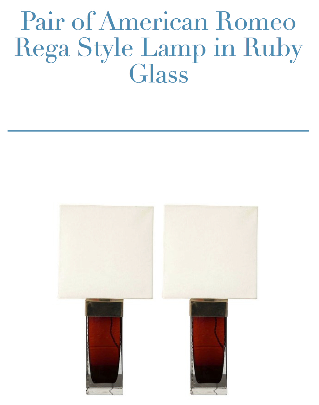 Ruby lamps