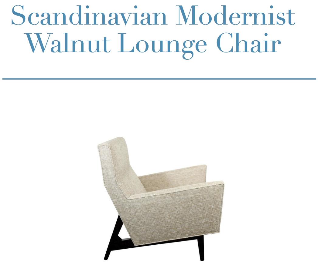Scandinvain Modernist Walnut Lounge Chair