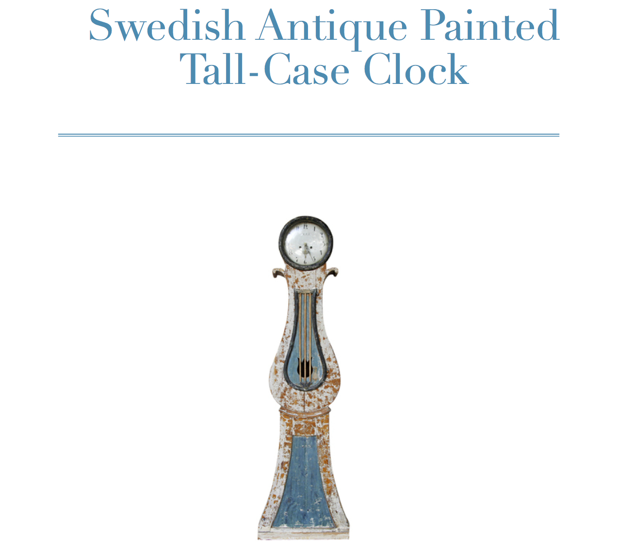 Th High Boy - Swedish Antique Painted Tall-Case Clock