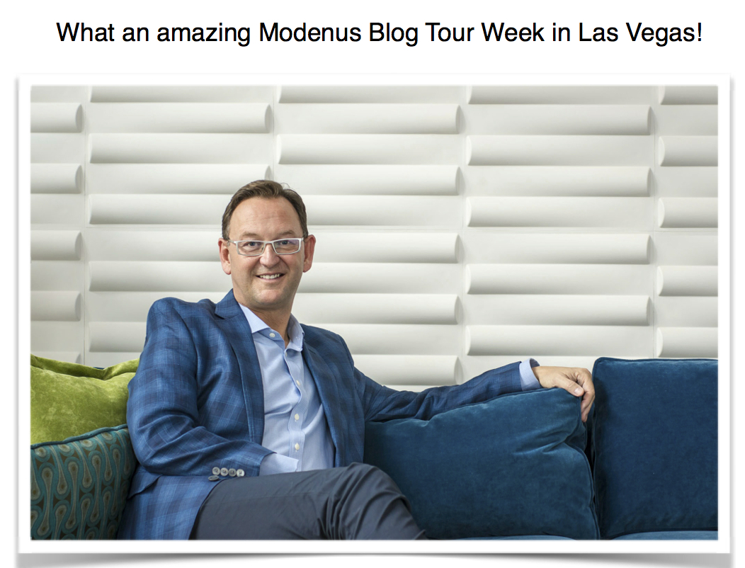 What an amazing Modenus Blog Tour in Vegas