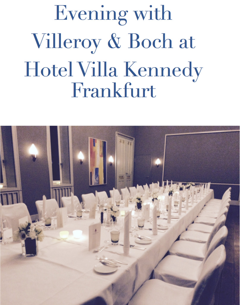 evening with villeroy & boch