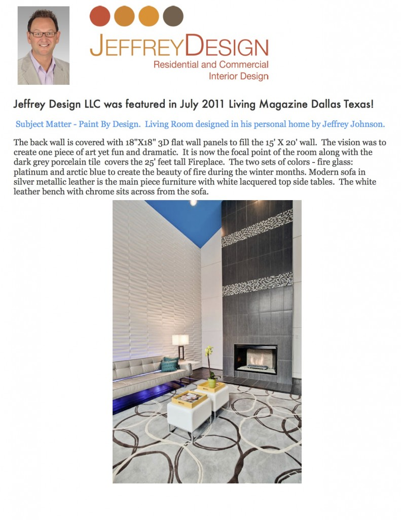 Jeffrey Design Blog - Dallas Living Magazine